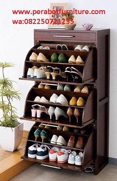 Lemari Sepatu Minimalis Modern Lemari Sepatu Perabot Rumah