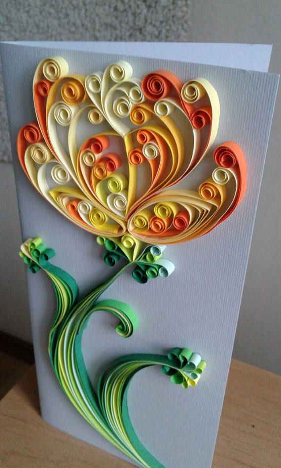Quilling Card Greeting Card Handmade Quilled Card 3d Handmade