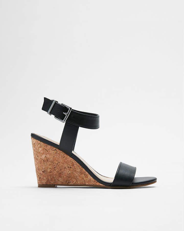 Express Dressy Wedge Sandals, Black