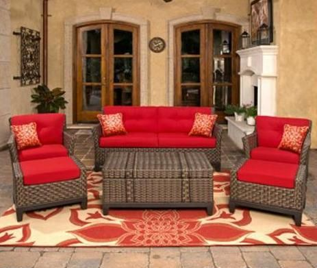 Outdoor Patio Wicker Furniture 6 Piece Deep Seating Set | eBay