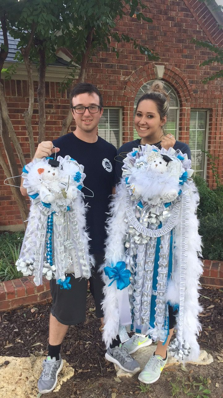 Senior Couple Mum And Garter Homecoming Garter Homecoming Mums