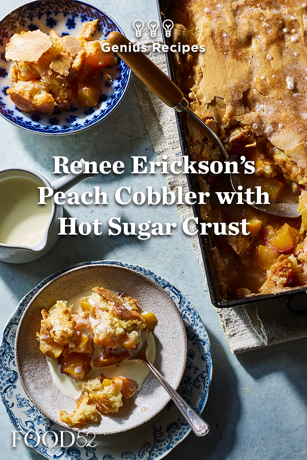 renee erickson s peach cobbler with hot sugar crust recipe pies and cobblers pinterest cobbler crust cobbler and crusts