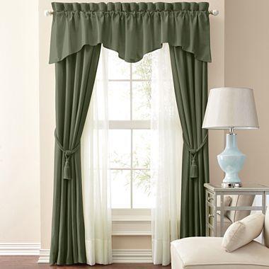 Jcp Home Supreme Antique Satin Pinch Pleat Curtain Panel Pair