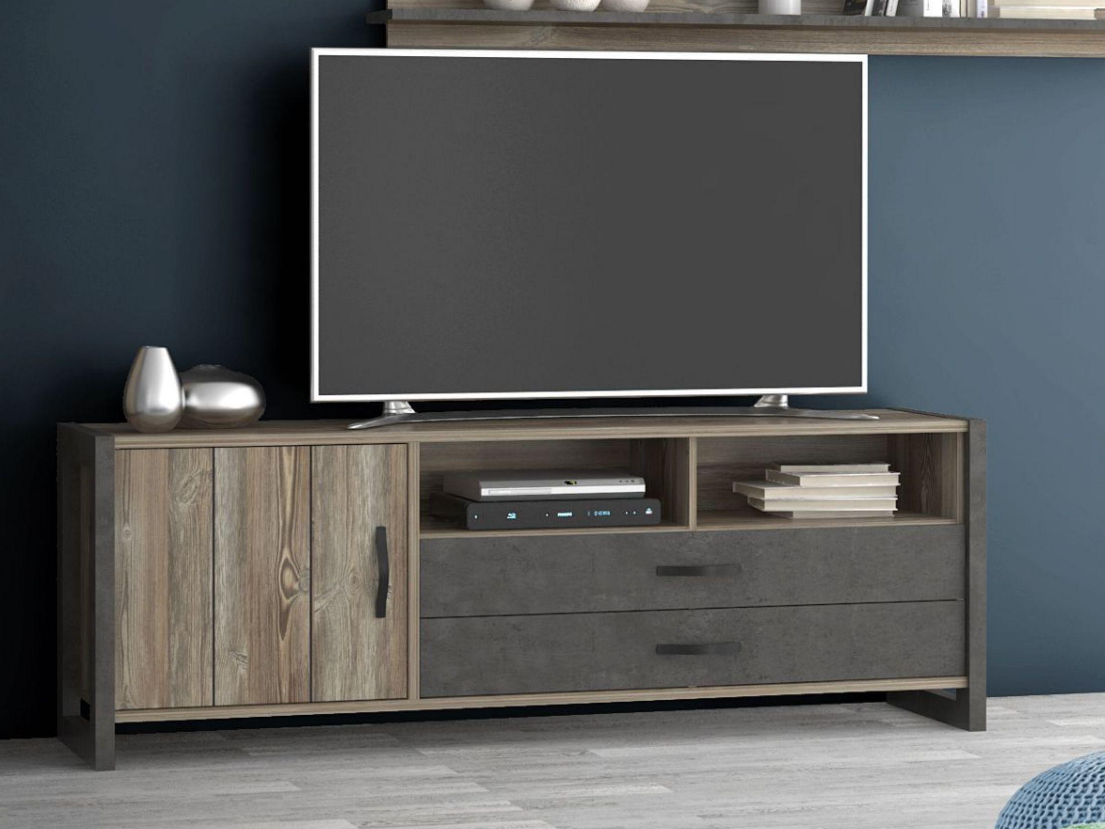 Tv Unterschrank In Grau Kiefer Forte M–bel Note Holzwerkstoffe