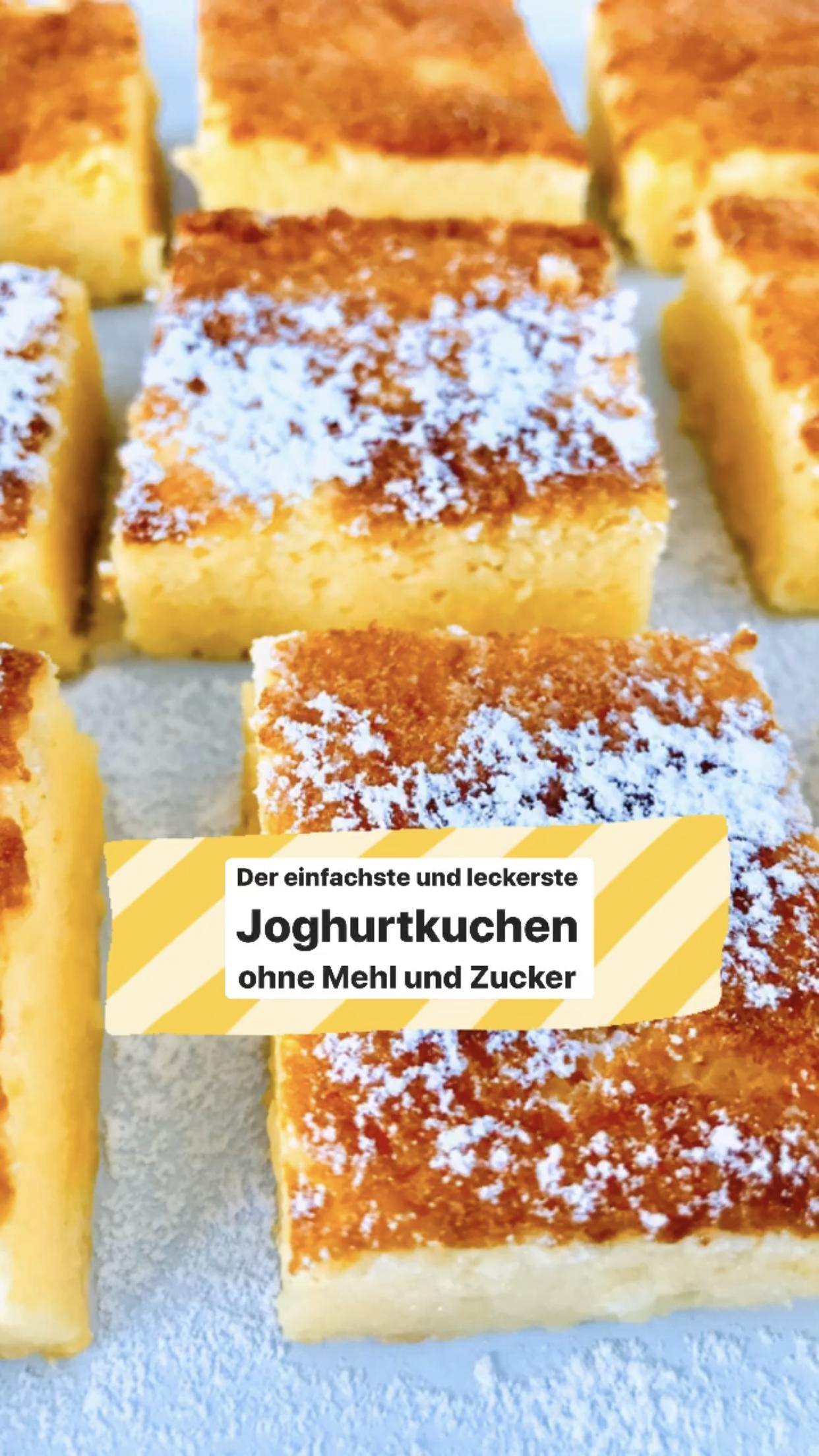 Einfacher Joghurtkuchen ohne Mehl und Zucker - Holla die Kochfee