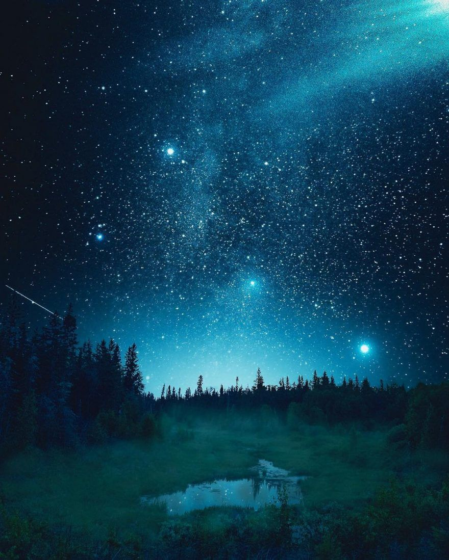 Incredible Night Landscape Andre Brandt Beautiful Sky Full Of Stars