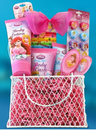 Pre Made Easter Basket For Girls Disney Princess Toiletries Gift