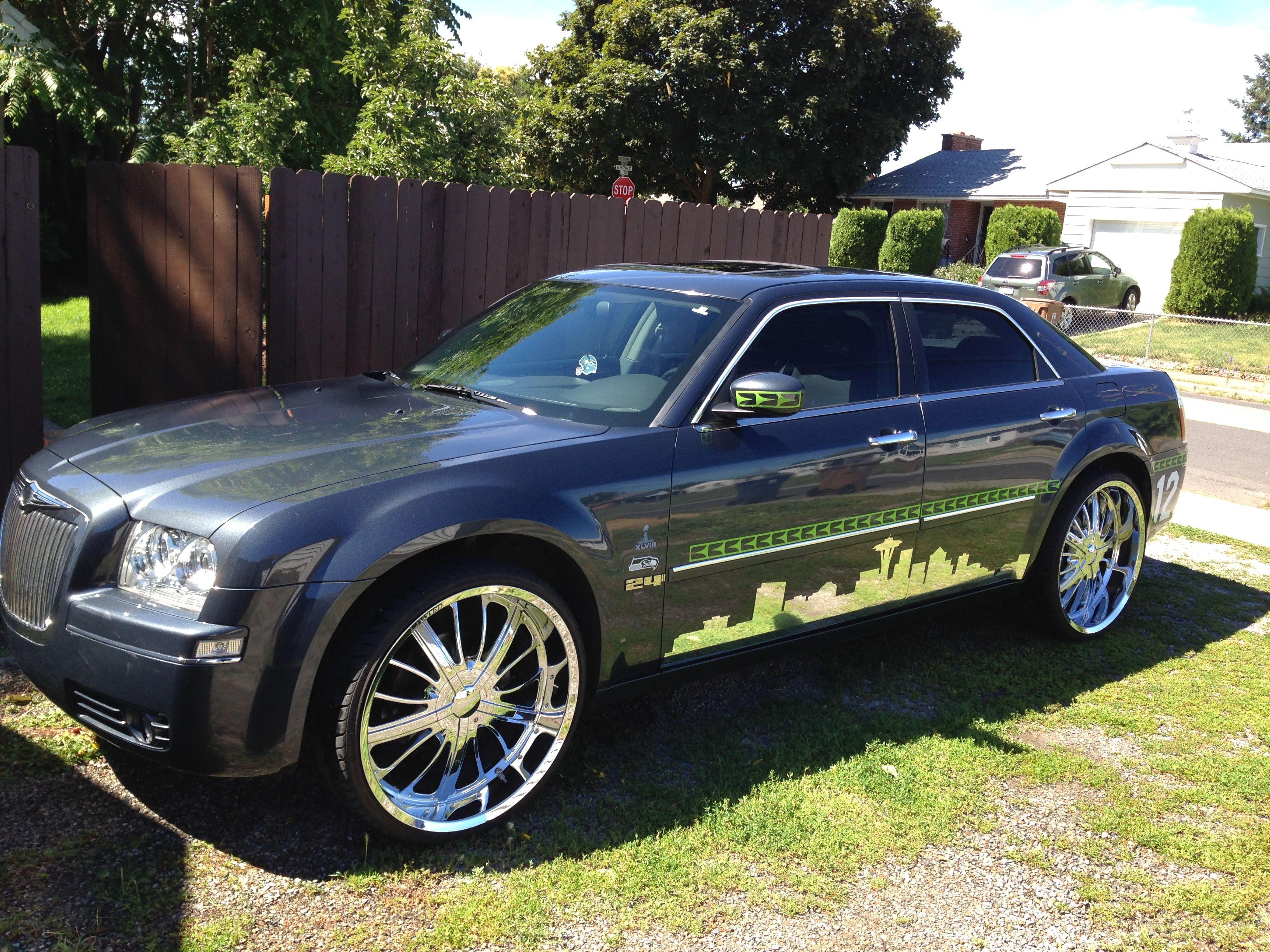 24 wheels chrome - Beastmode 24 Inch Rims Chrysler All Seahawks Everything Chrome Skyline