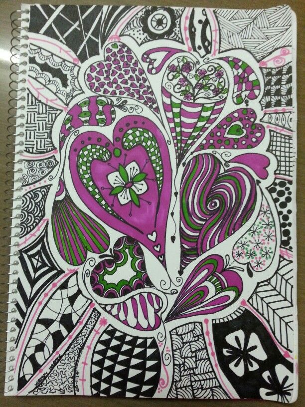 i love hearts finally got the courage to pin one of my own doodles by wendy harper