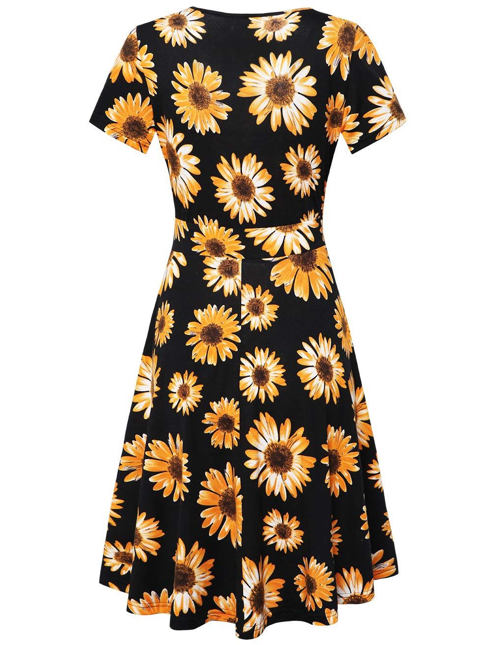 Sunglory Floral Dresses Sleeves Sundress Floral Dresses With Sleeves Casual Dresses For Teens Knee Length Dresses Casual [ 1313 x 1010 Pixel ]