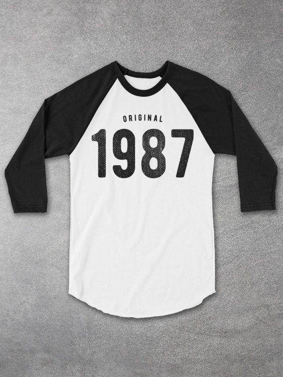 30th Birthday For Him Her 1987 Tee Baseball Raglan Shirt