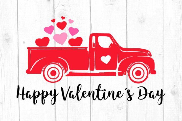 Download Valentines Truck Svg, Valentines Day Svg, Vintage Old ...