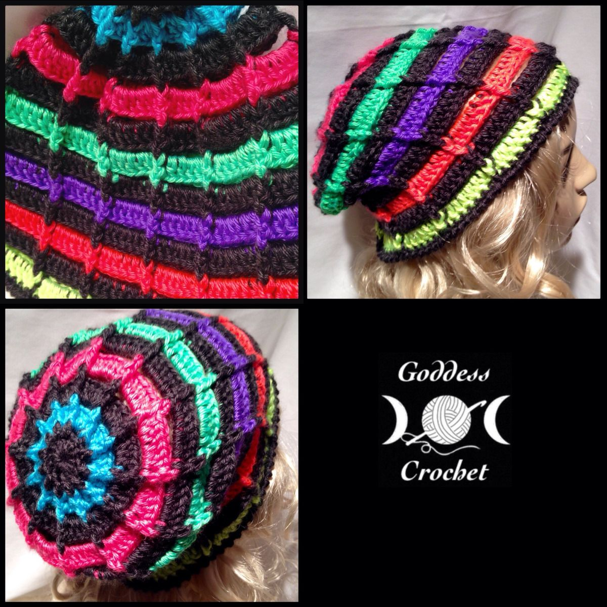Ribbed Ladder Slouchy Beanie – Free Crochet Pattern | Gorros de ...