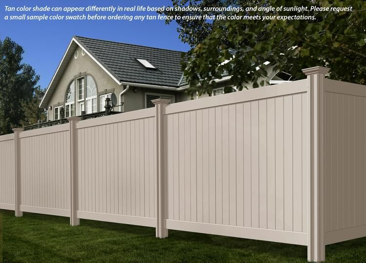 Steady Freddy Vinyl Fence Tan Or Almond Color Vinyl Privacy Fence Vinyl Fence Vinyl Fence Panels