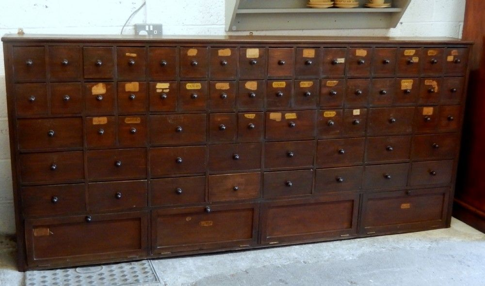 VERY LARGE APOTHECARY CABINET OVER 8u0027 LONG