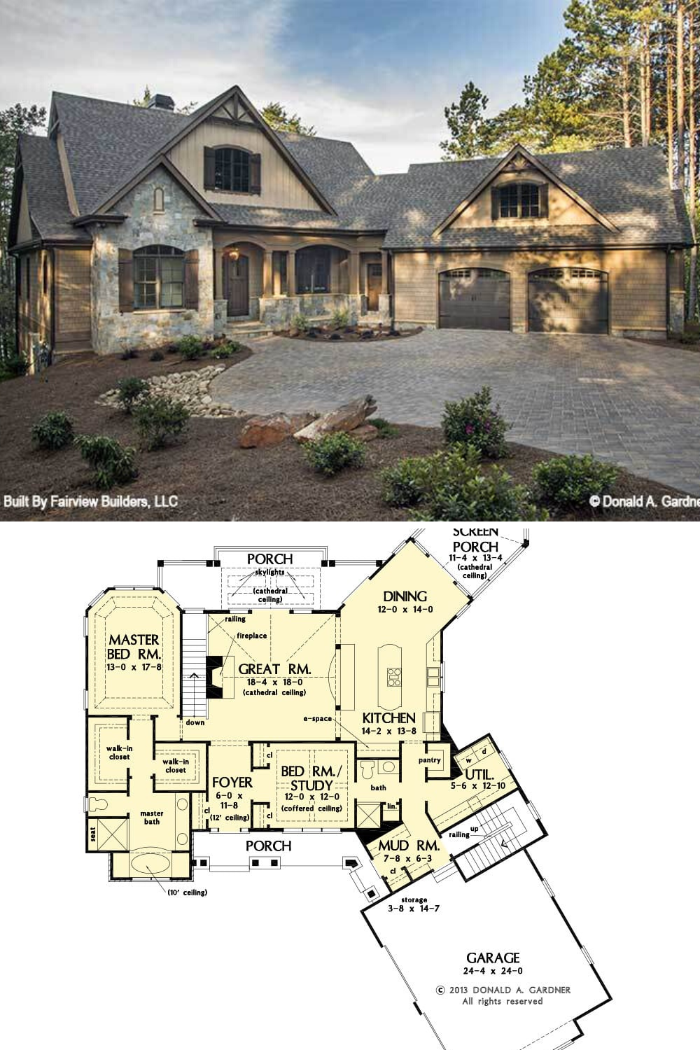 Two Story 4 Bedroom The Butler Ridge Home Floor Plan
