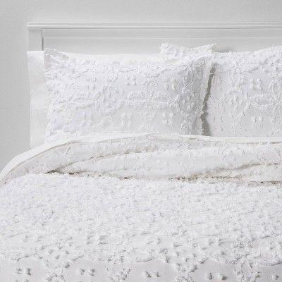 Clipped Chenille Comforter Sham Set Threshold Comforter Bedding Sets Bed Comforters Bedding Sets