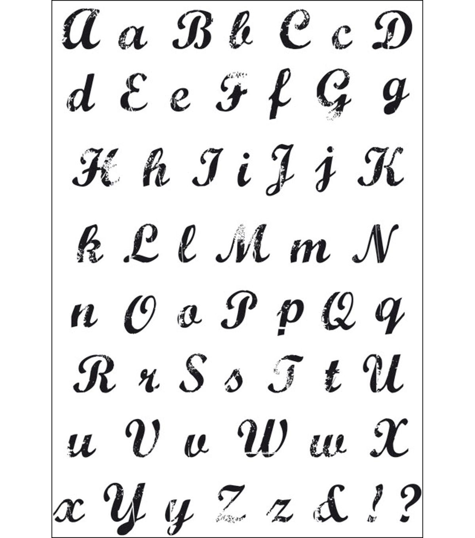 "Kaisercraft Clear Stamps 6""X4""-Vintage Script AlphaKaisercraft Clear Stamps 6""X4""-Vintage Script Alpha,"