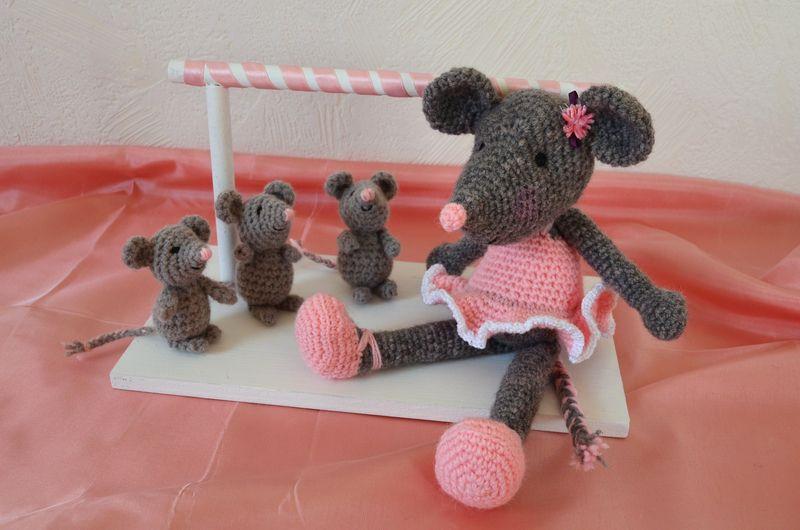 Souris ballerine, crochet, amigurumi, laine (7)
