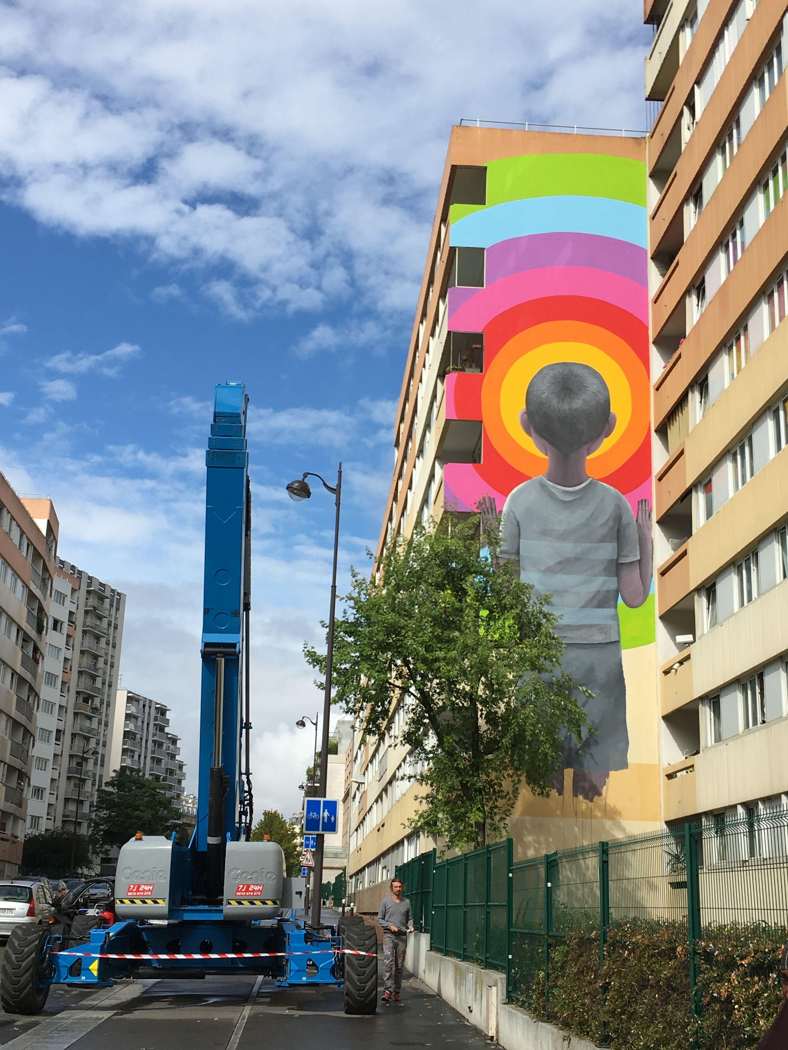 Street art In progress rue Jeanne D'Arc Paris 13eme France seth globepainter l artiste et son œuvre !!