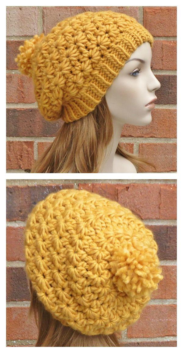 Crochet Stella Star Beret Pattern | Crochet Ropa | Pinterest ...