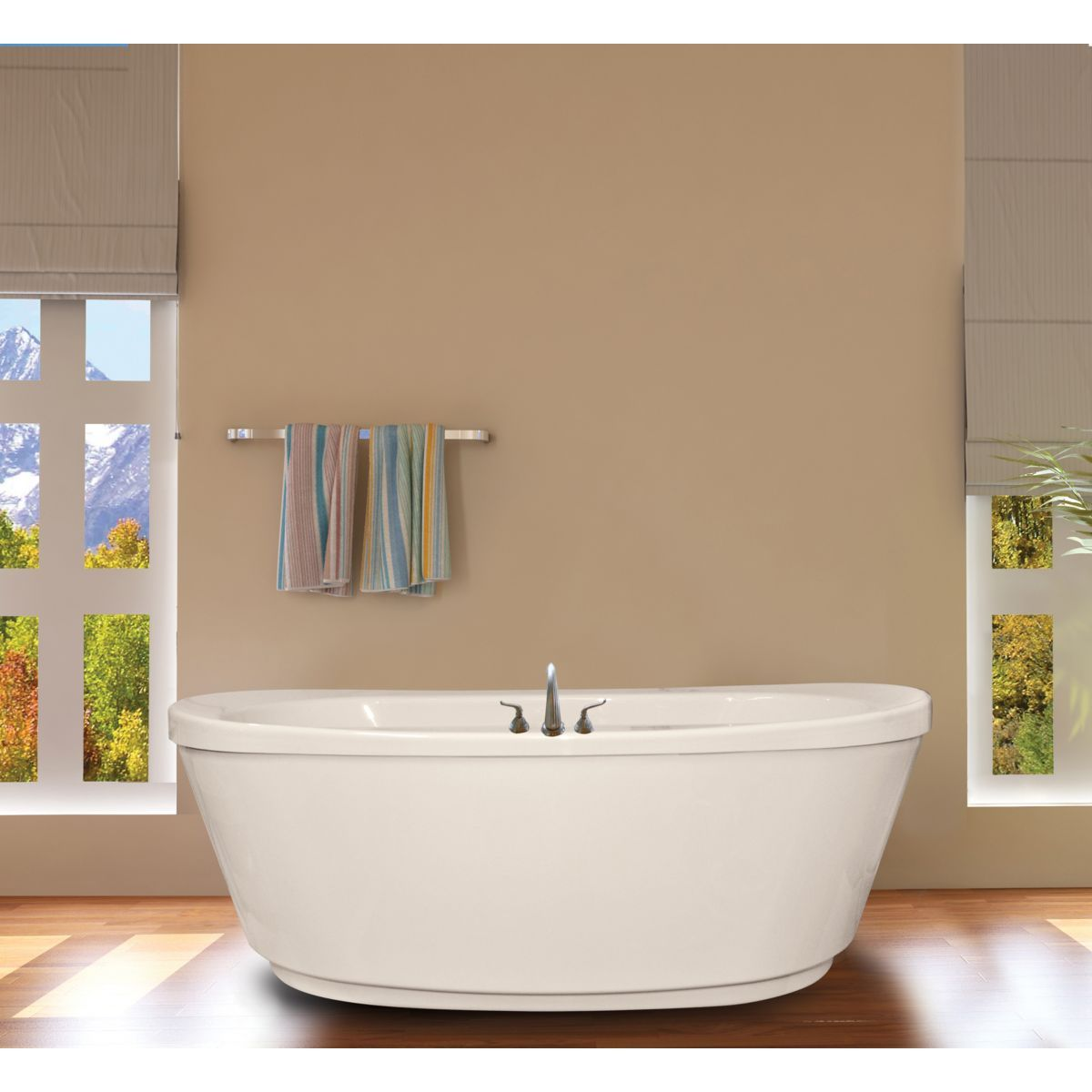 Hydromassage Ovale 6636cdfs Soothing Soak Tub With Access Panel Free Standing Tub Air Jet Tubs Whirlpool Tub