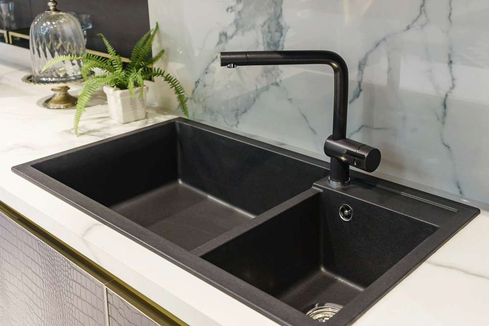 Best Double Bowl Kitchen Sinks Mar 2021 Faucetsreviewed Black Kitchen Sink Porcelain Kitchen Sink Kitchen Sink