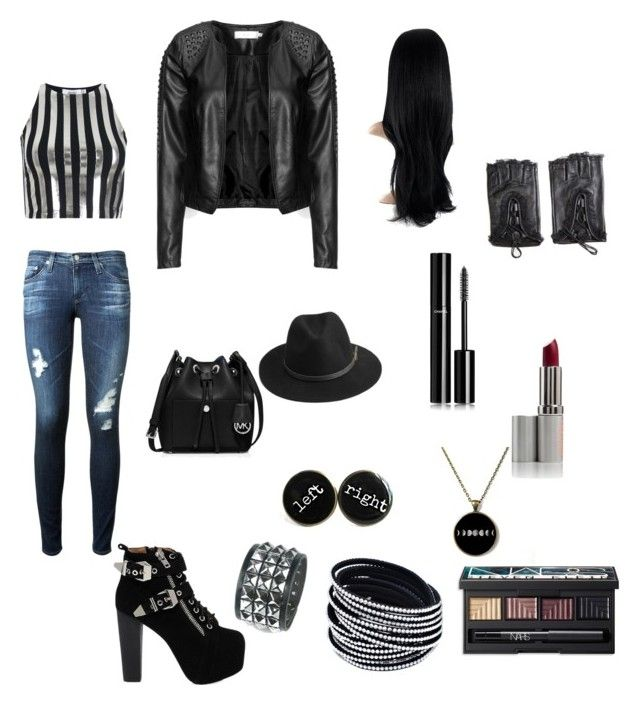"""""""Untitled #541"""" by patricia20306 on Polyvore featuring MICHAEL Michael Kors, AG Adriano Goldschmied, Bundy & Webster, Zizzi, Jeffrey Campbell, BeckSöndergaard, Chanel and NARS Cosmetics"""