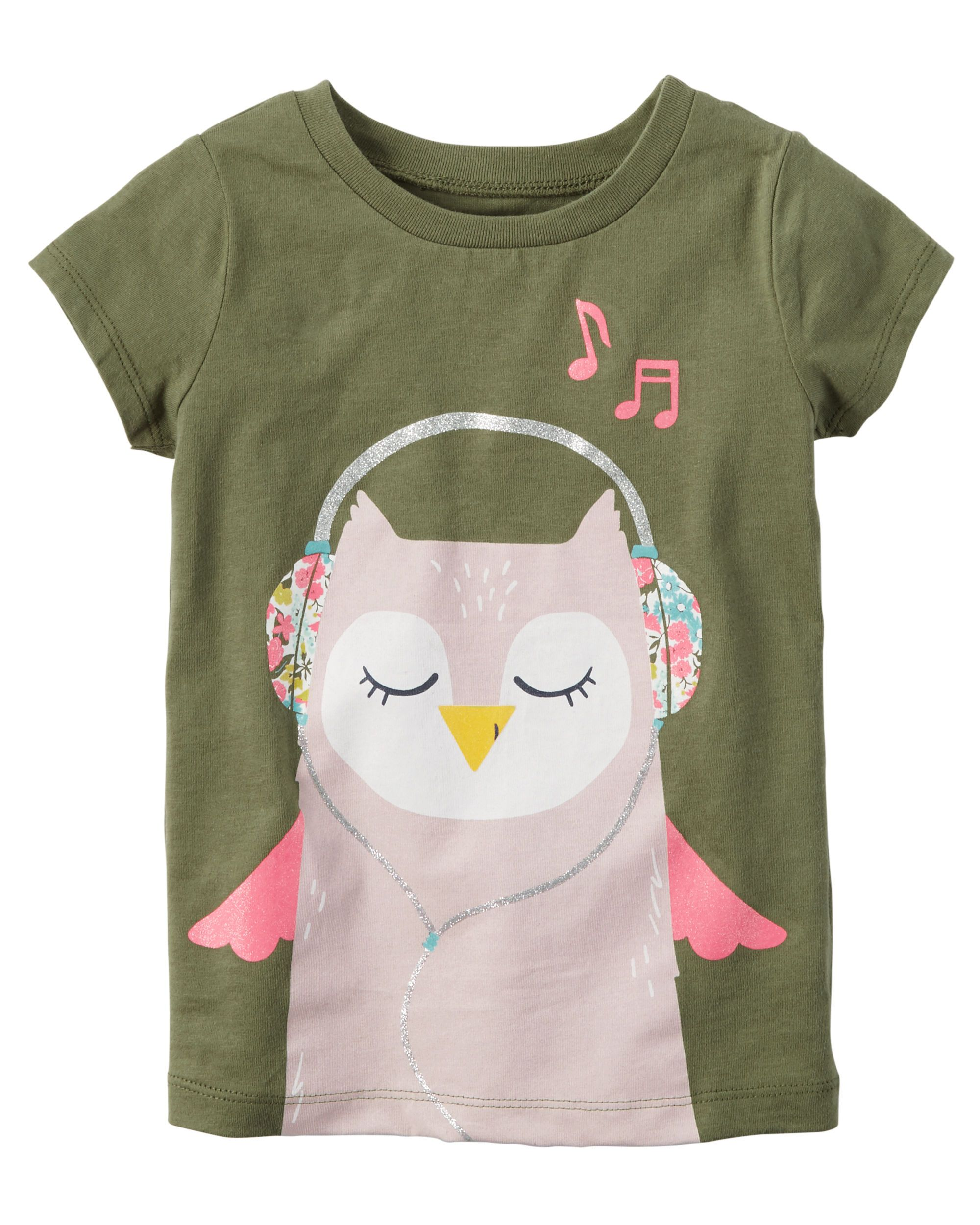 dc42e064 Glitter Owl Graphic Tee   Girl   Owl graphic, Toddler girl, Graphic tees