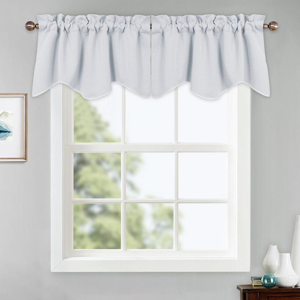 Pony Dance White Window Valances - Short Curtain Small Tiers Rod