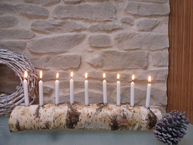 Toller Kerzenleuchter Aus Einem Massiven Birkenstamm Passend Zum