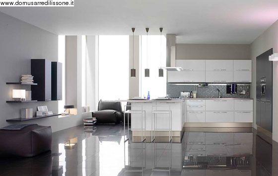 Oyster decorativo con zona living Veneta Cucine | Arredamento Cucina ...