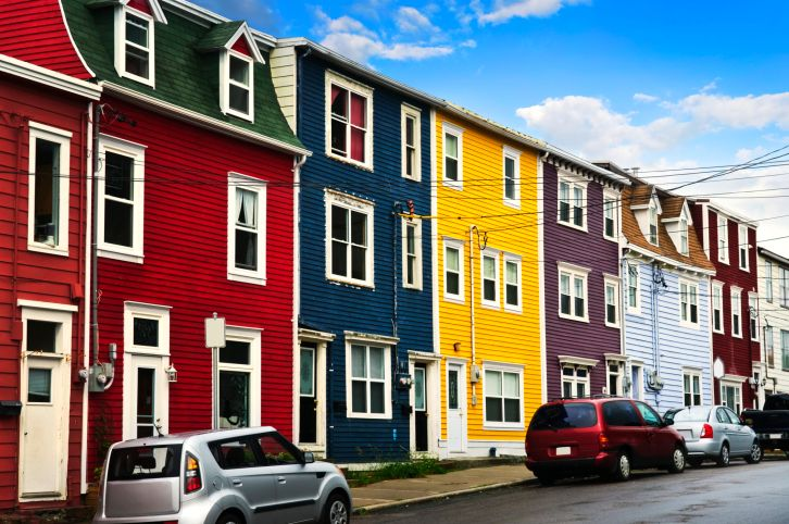 Jelly Bean Row >> Jelly Bean Row St John S Piatra House Colors Colourful