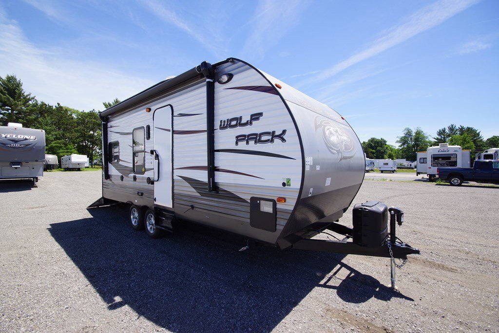 Travel Trailer Toy Hauler 2015 Forest River Wolf Pack 19wp Small