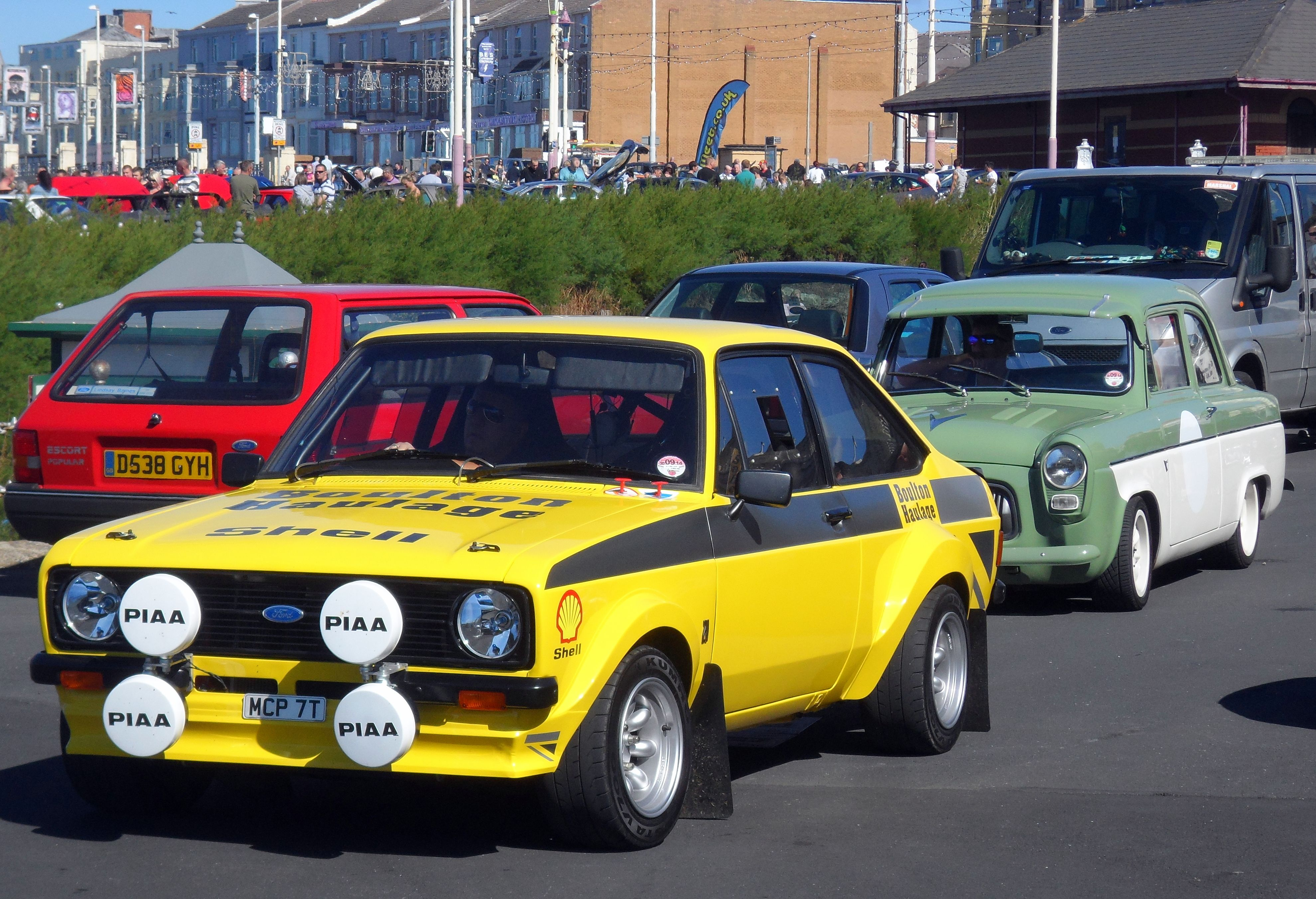 Ford Escort Mk2 Rally Car followed by Ford Prefect with Lotus Engine ...