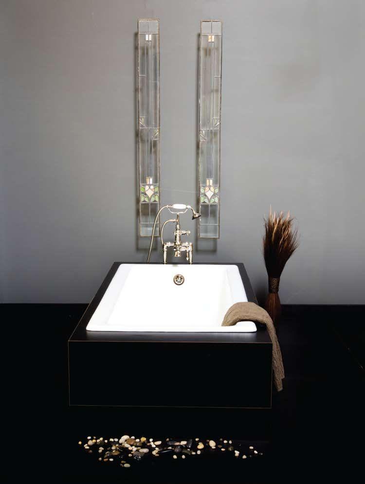 The Caspian 60 Cast Iron Drop In Tub No Faucet Holes Drop In Tub Tub Bathroom Fixtures
