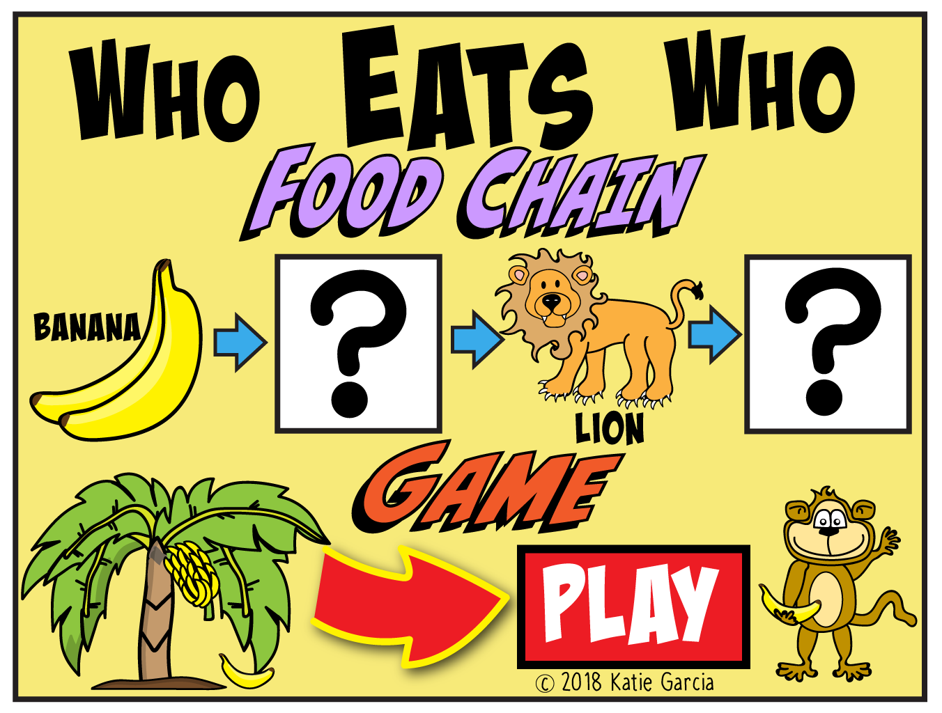Food Chain Game With Free Download Worksheet