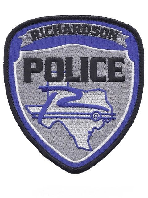 Us State Of Texas City Of Richardson Police Department Patch U S States Police Police Badge