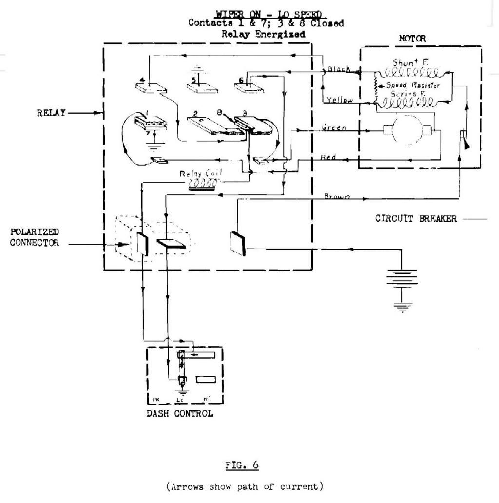 low speed windshield wiper wiring diagram for 1957 ...