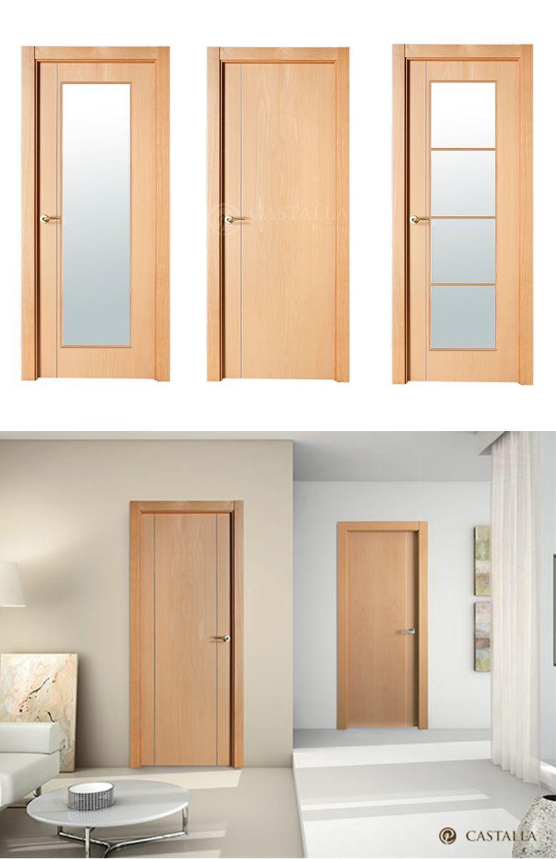Puerta de interior clara modelo sofia de la serie lisa for Modelos de puertas de madera