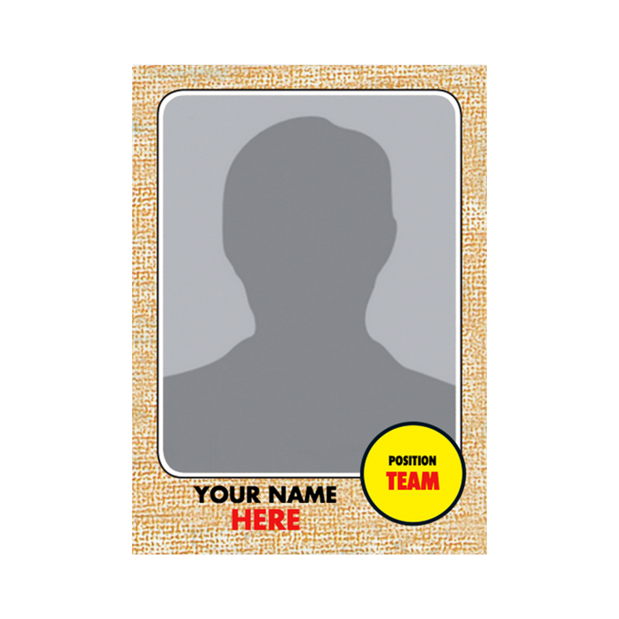 It's just a picture of Accomplished Printable Baseball Card Template