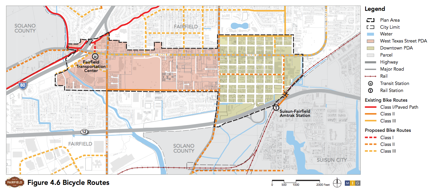 'Heart of Fairfield' Plan Proposed Bicycle Improvements