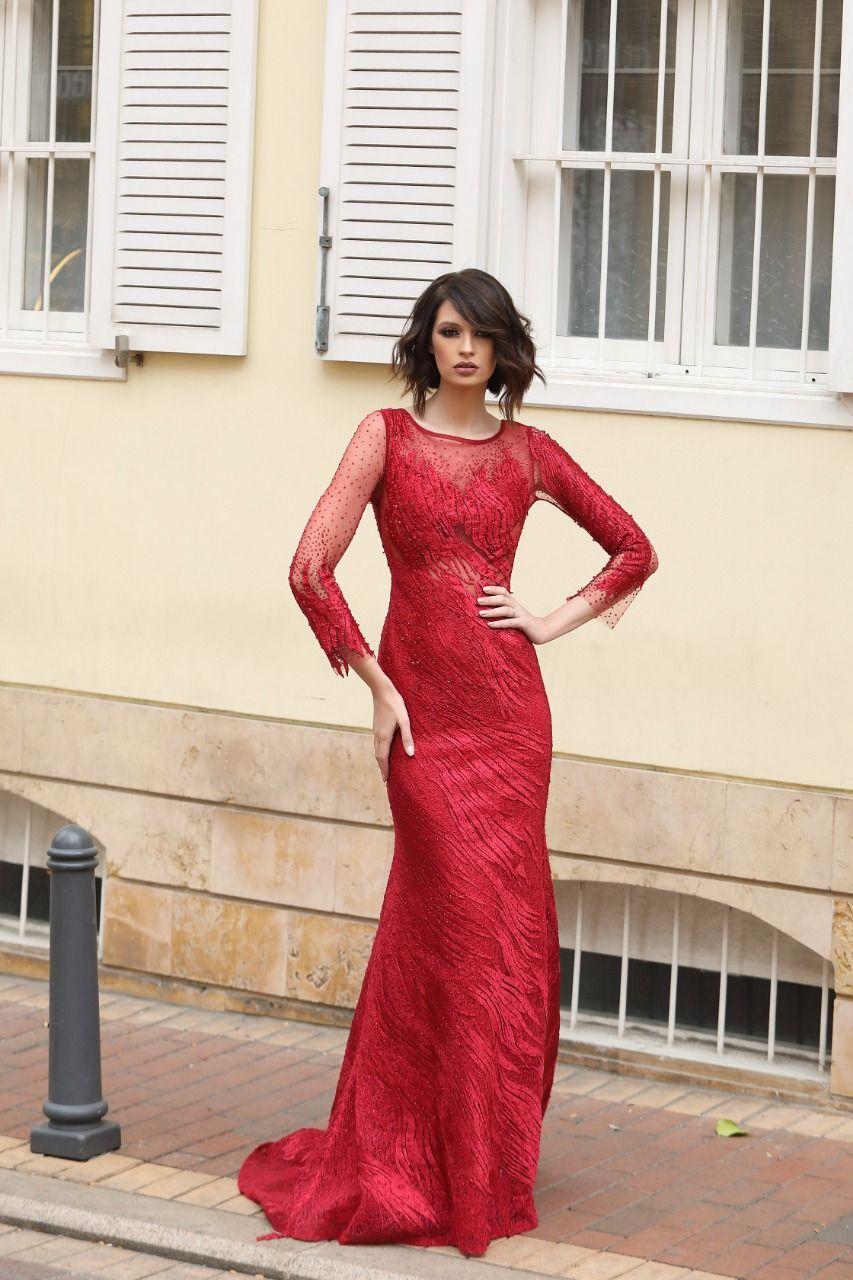 Beautiful Lady In Red Arabic Dress Dresses Arabic Dress Evening Dresses
