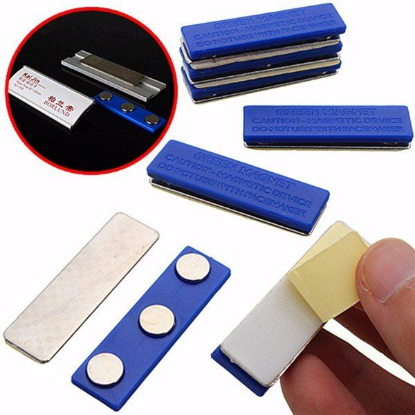 Magnetic Name Tag Badge Fastener ID Holder Magnet Strong Badge Holder Magnet