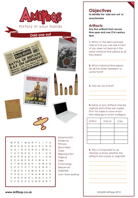 Odd one out - 20th Century world. Free worksheet. | History ...