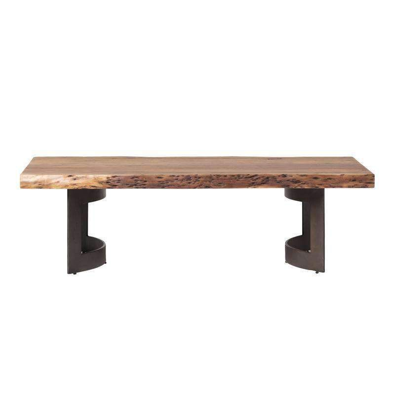 Bent coffee table smoked moes home collection