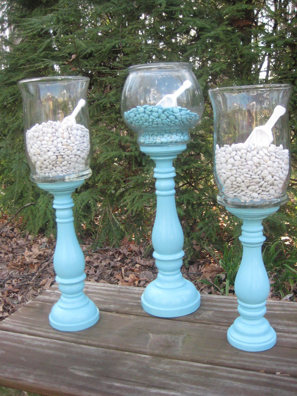 Tiffany Blue Apothecary Jars Wedding Decor Candy Buffet XX Large. $69.95, via Etsy.