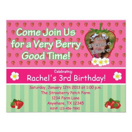 Strawberry birthday party invitation strawberry birthday party invitation birthday invitation invitations aaronsgraphics strawberry stopboris Choice Image