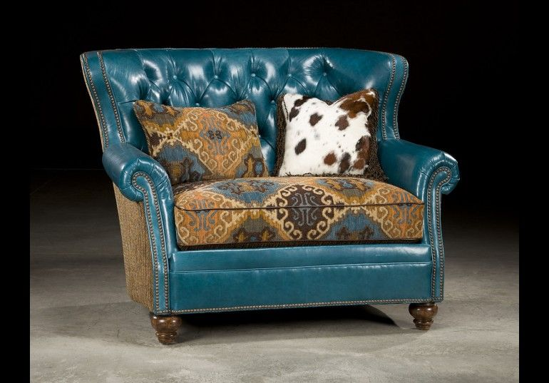 Incredible Tufted Turquoise Leather Chair And A Half Chair A Half Lamtechconsult Wood Chair Design Ideas Lamtechconsultcom
