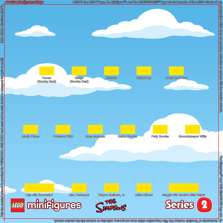 LEGO Minifigures Simpsons Series 2 Background | Lowe Family | Lego ...